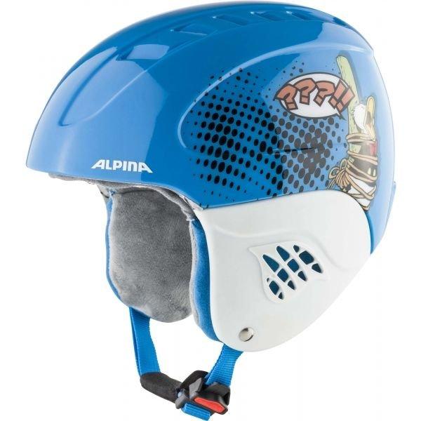Modrá pánská lyžařská helma Alpina Sports - velikost 48-52 cm