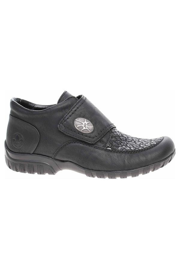 Černé dámské kotníkové boty Rieker - velikost 39 EU