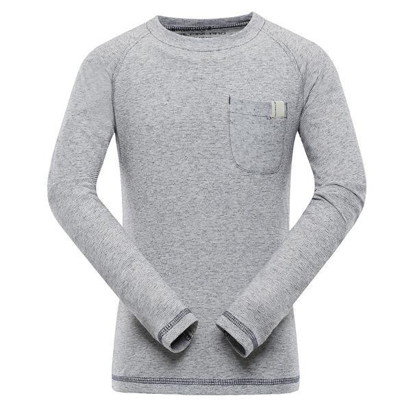 Šedé dětské tričko s dlouhým rukávem Alpine Pro - velikost 128-134