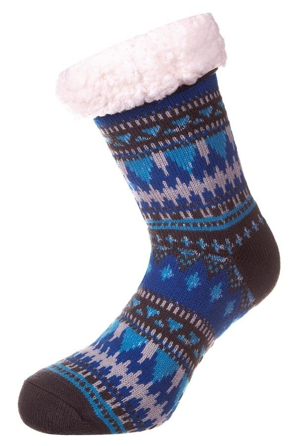Černo-modré kotníkové ponožky Alpine Pro - velikost S