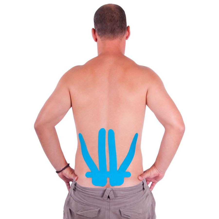 Modrá tejpovací páska na záda inSPORTline