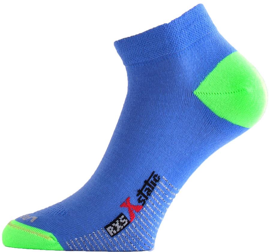 Modro-zelené pánské běžecké ponožky RXS 506, Lasting - velikost 34-37 EU