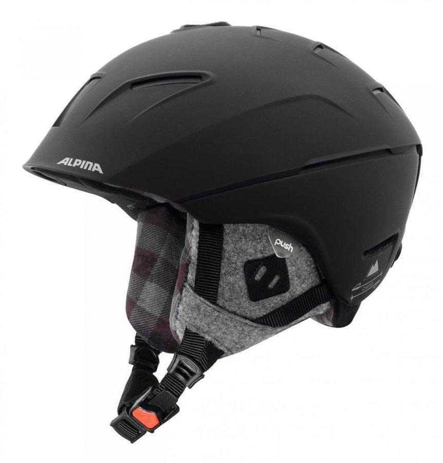 Černá dámská lyžařská helma Alpina Sports - velikost 52-56 cm