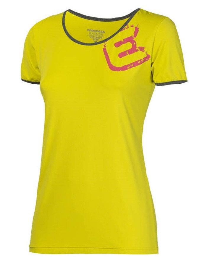 Žluté dámské funkční tričko s krátkým rukávem Progress