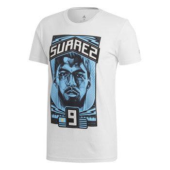 """Bílé pánské tričko s krátkým rukávem """"Luis Suárez"""", Adidas - velikost M"""