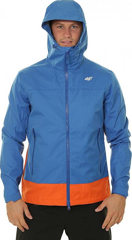 Modrá pánská turistická bunda 4F