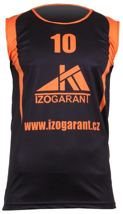 Černo-oranžový basketbalový dres Merco