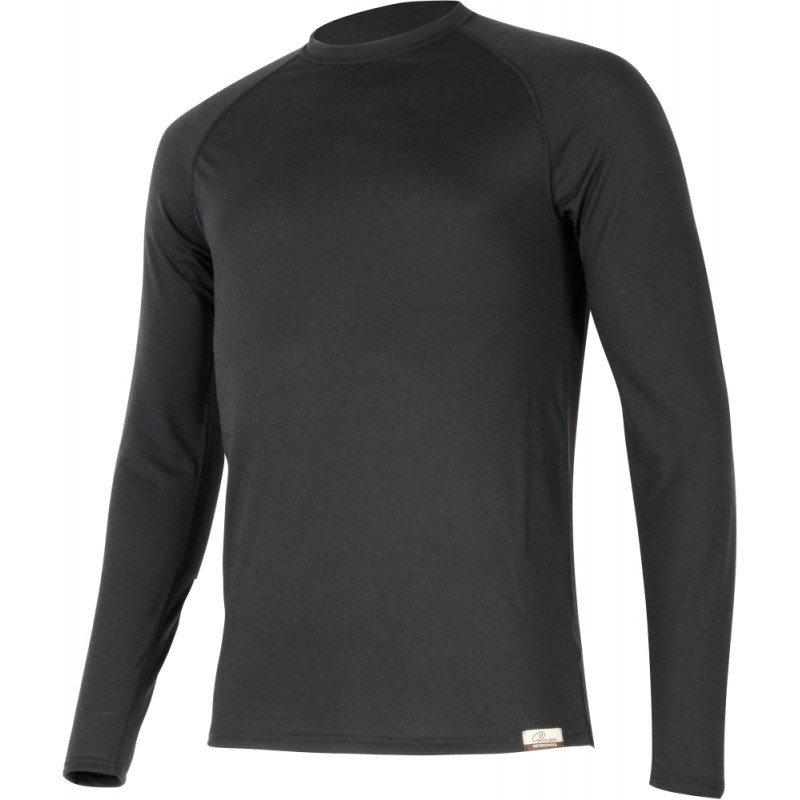 Černé pánské funkční tričko s dlouhým rukávem Lasting
