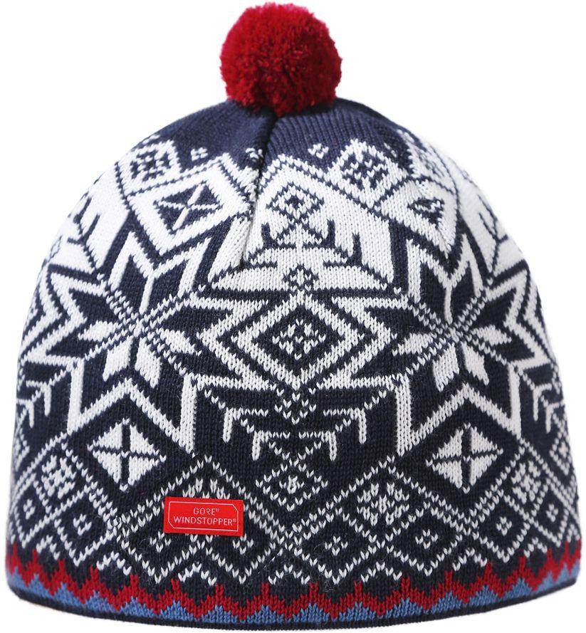 Bílo-modrá zimní čepice Kama - velikost L