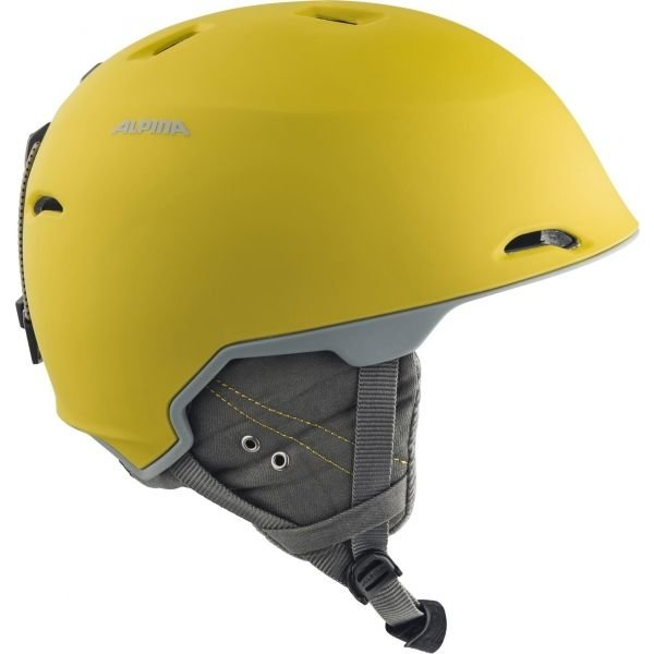 Žlutá lyžařská helma