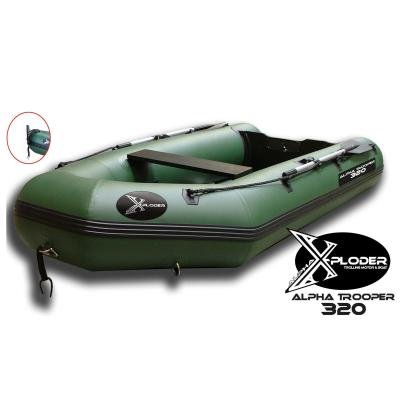 Zelený člun pro 5 osob