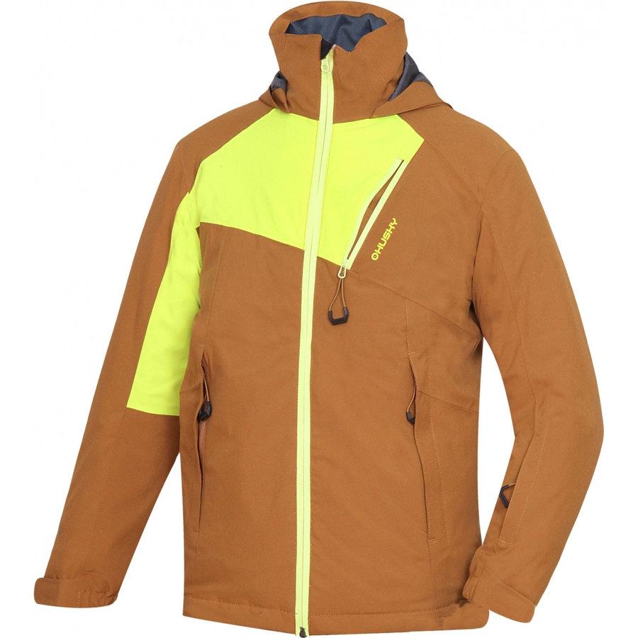 Hnědo-žlutá dětská bunda Husky