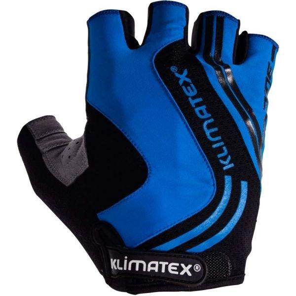 Černo-modré pánské cyklistické rukavice Klimatex