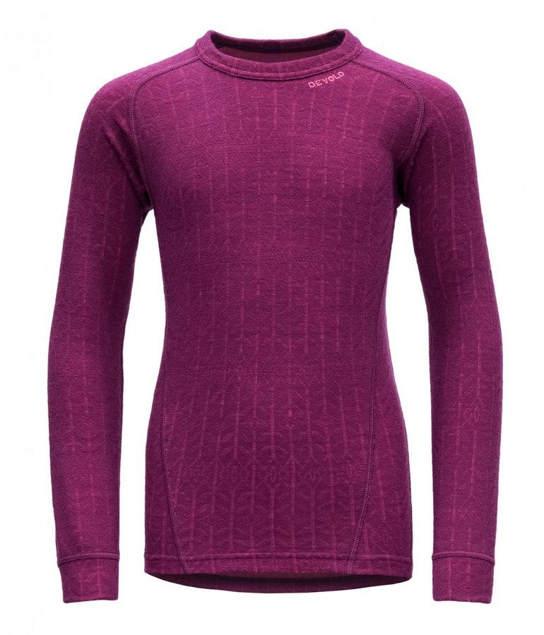 Růžové dívčí funkční tričko s dlouhým rukávem Devold