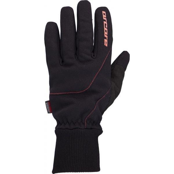Černé rukavice na běžky Arcore