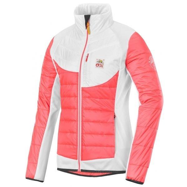 Bílo-růžová dámská bunda Picture