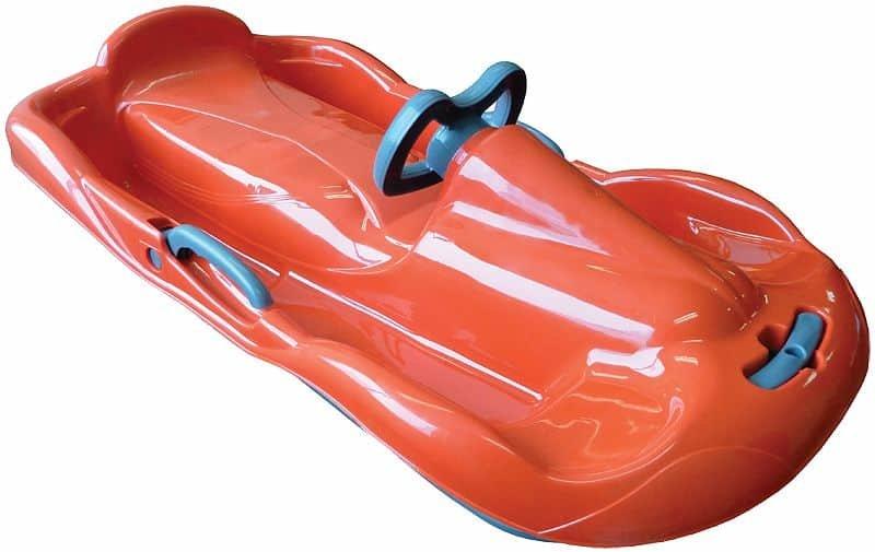 Oranžové dětské boby s volantem Sulov