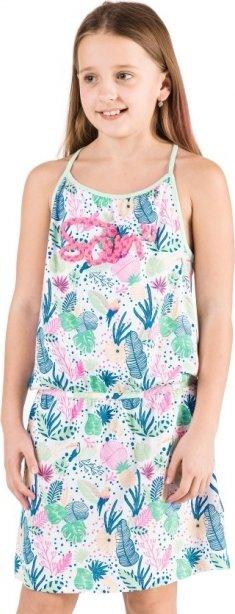 Bílo-zelené dívčí šaty Sam 73 - velikost 164-170