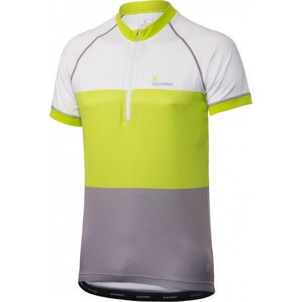 Bílo-zelený pánský cyklistický dres Klimatex