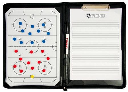 Hokejová trenérská tabule - Taktická tabule FOX 40 Pro Pro Magnetic Folder 25,5 x 35,5 cm