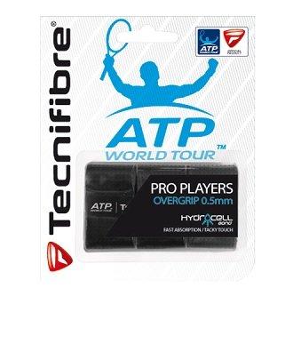 Černá tenisová omotávka ATP Player´s Wrap, Tecnifibre - 3 ks