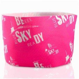 Růžová běžecká čelenka BESKYDY, Milujemehory - univerzální velikost