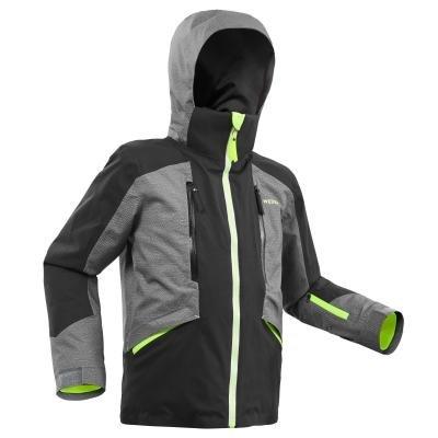 Černo-šedá dětská lyžařská bunda Wed'ze