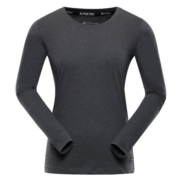 Šedé dámské tričko s dlouhým rukávem Alpine Pro - velikost XS