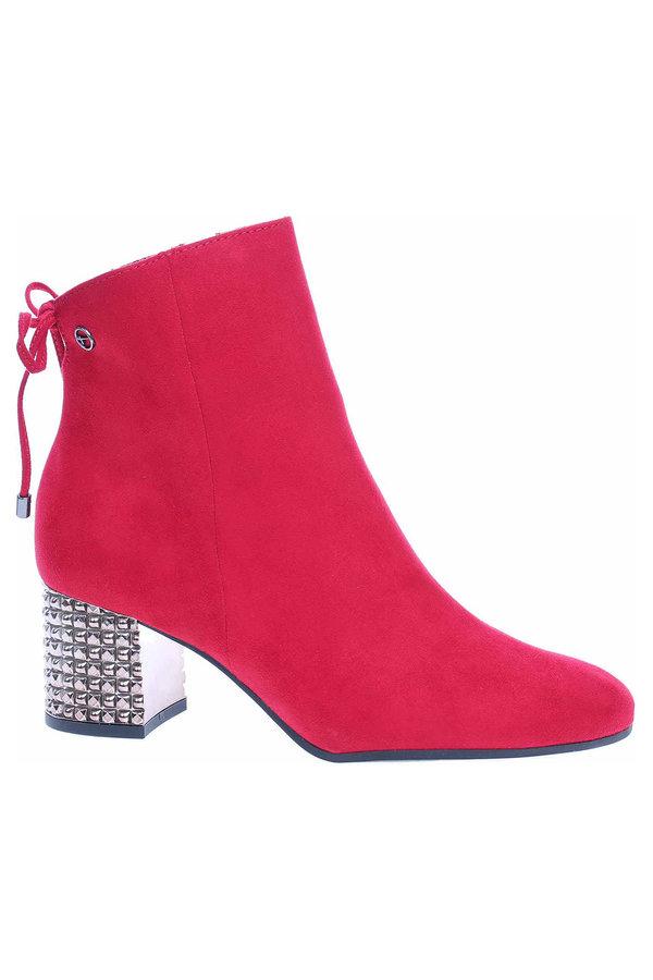Červené dámské zimní boty Tamaris