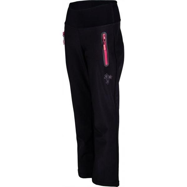 Černé softshellové dámské kalhoty Lewro
