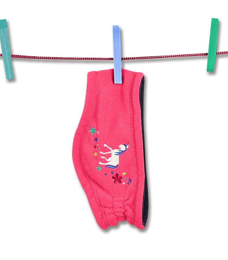 Růžová dětská běžecká čelenka UNICORN LENA KIDS, ELT - univerzální velikost