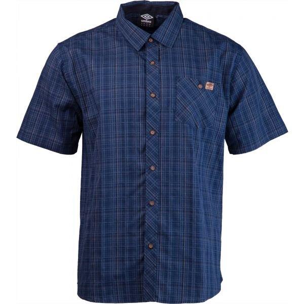 Modrá pánská košile s krátkým rukávem Umbro - velikost M