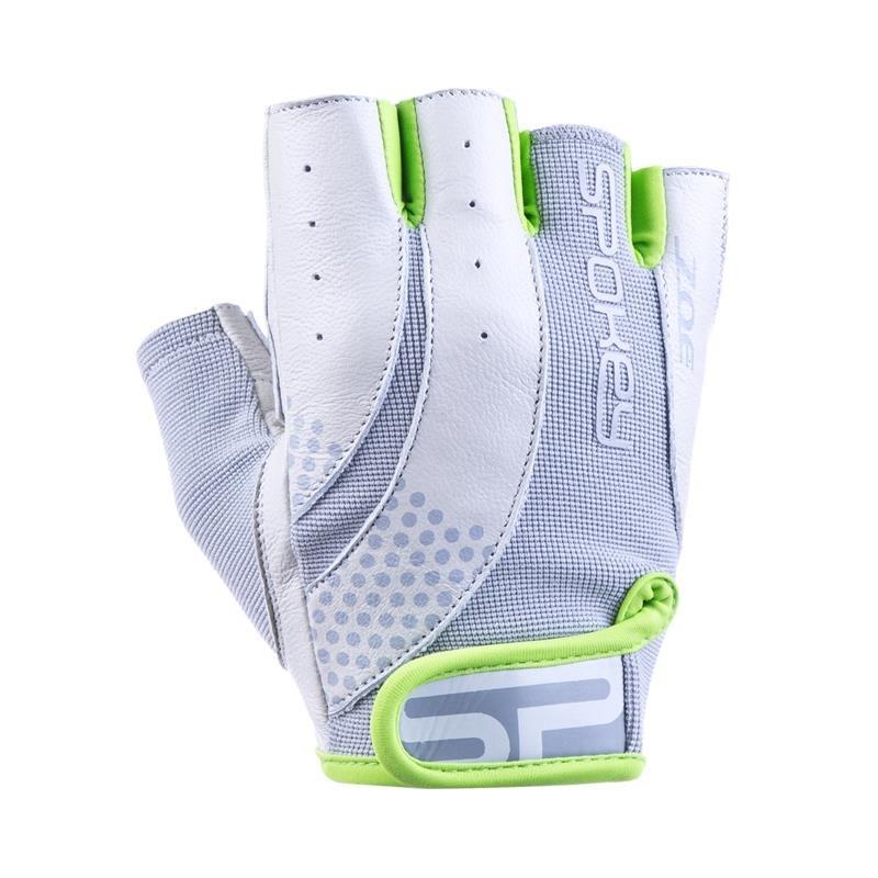 Bílo-zelené dámské fitness rukavice Spokey - velikost L