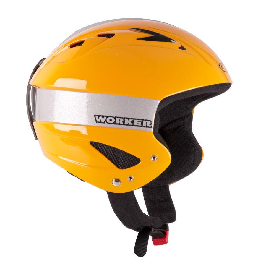 Žlutá lyžařská helma Worker - velikost 51-52 cm