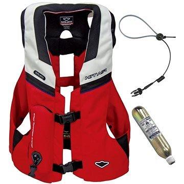 Bílo-červená airbagová vesta Hit-Air