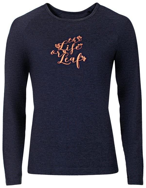 Modré dámské tričko s dlouhým rukávem Alpine Pro - velikost XS