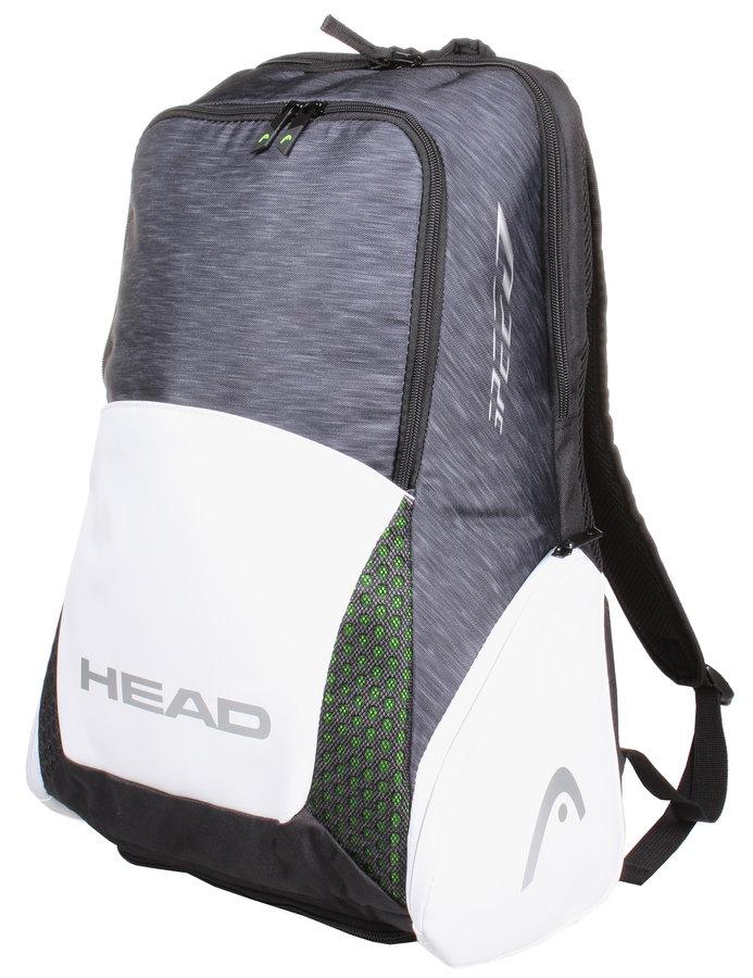 Bílo-černý tenisový batoh Head