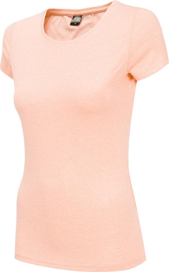 Růžové dámské tričko s krátkým rukávem 4F - velikost XL