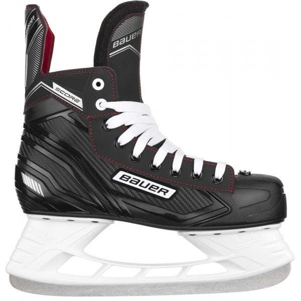 Černé hokejové brusle Bauer