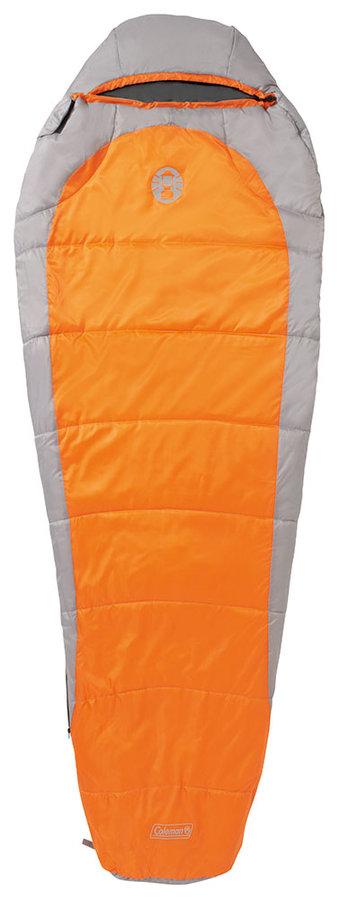 Oranžový spací pytel Silverton Comfort 150, Coleman - délka 225 cm