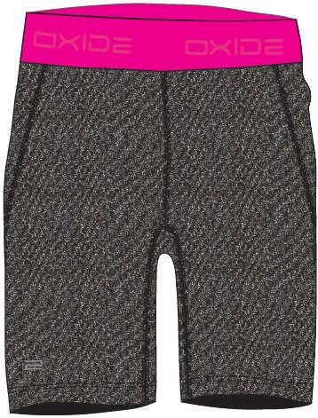 Hnědo-růžové dámské běžecké kraťasy Oxide