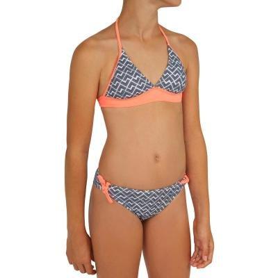 Bílo-černé dvoudílné dívčí plavky Olaian - velikost 128
