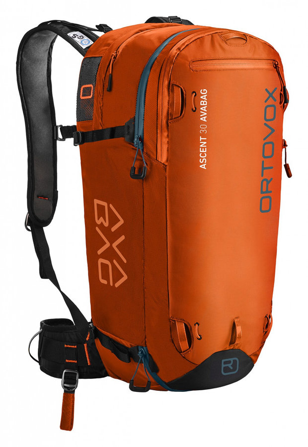 Oranžový lavinový skialpový batoh Ortovox - objem 30 l