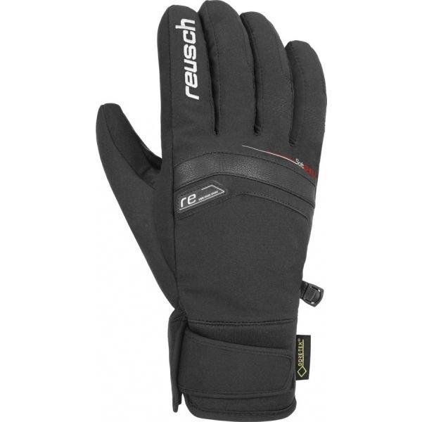 Černé pánské lyžařské rukavice Reusch