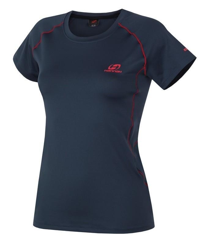 Modré dámské tričko s krátkým rukávem Hannah - velikost 40