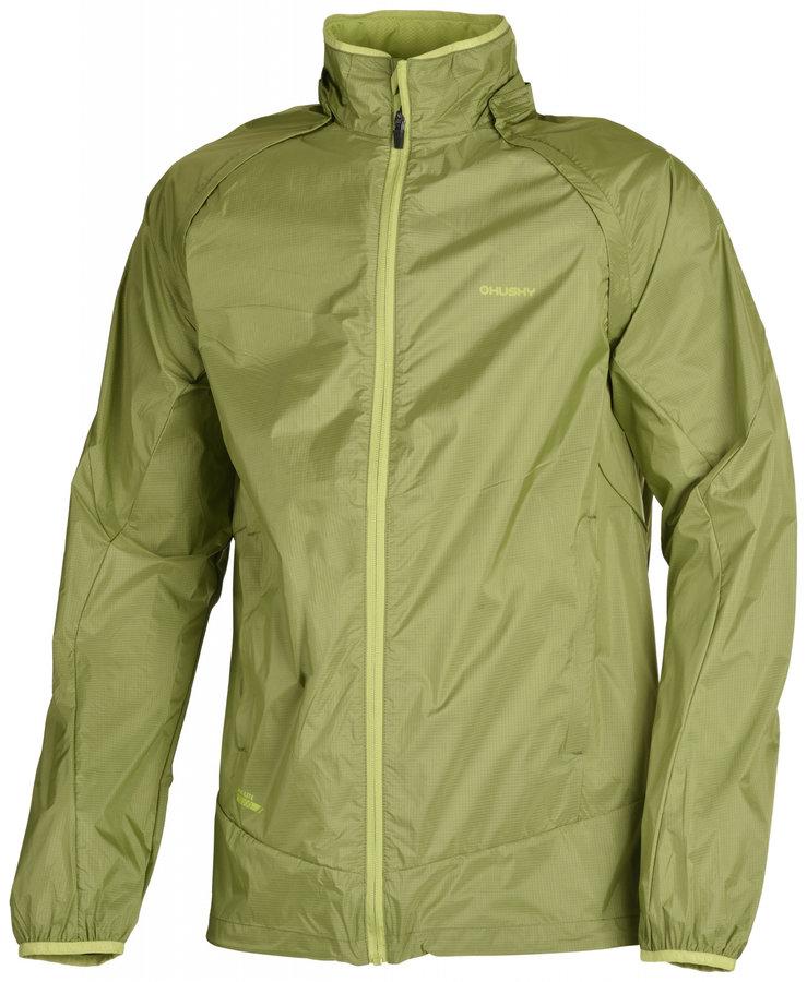 Zelená pánská turistická bunda Husky - velikost M