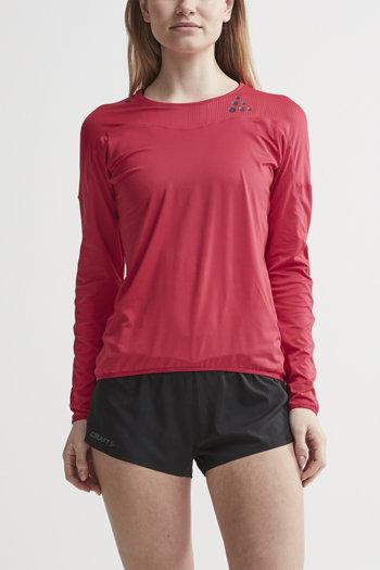 Růžové dámské tričko s dlouhým rukávem Craft
