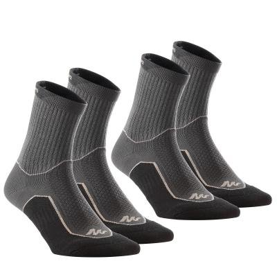Černo-šedé unisex ponožky Quechua - velikost 39-42 EU