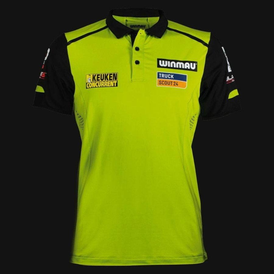 Černo-zelený šipkařský dres Winmau