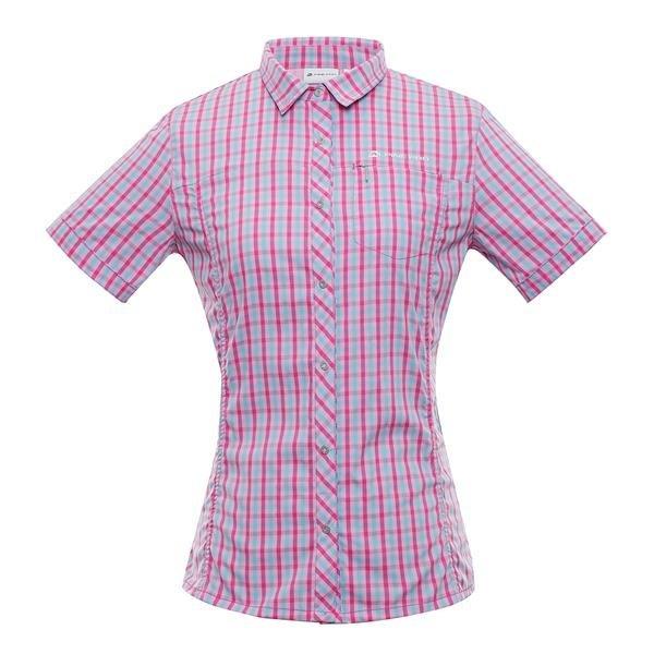 Růžová dámská košile s krátkým rukávem Alpine Pro